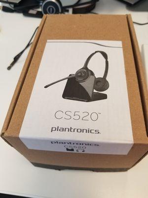 Platronics cs520 binaural wireless headset for Sale in Duluth, GA