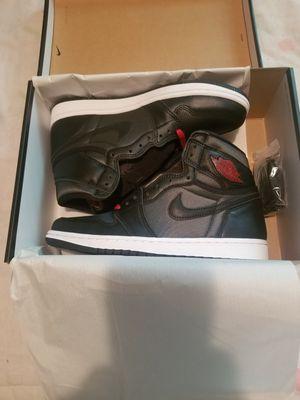New Jordan 1 Retro Black Satin size 7 men for Sale in Philadelphia, PA