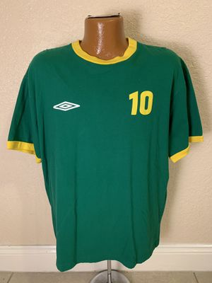 Vintage 2005-06 Umbro Green/Yellow #10 Jersey T-shirt. Size Large. Good condition. See pics. for Sale in Parkland, FL
