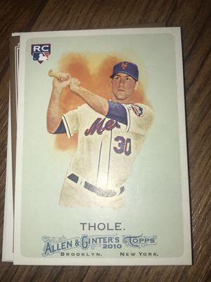 Baseball card josh thole rookie ny Mets for Sale in Colorado Springs, CO