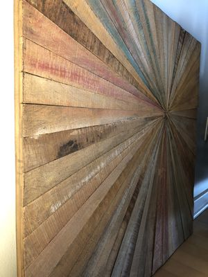 NEW- Wall decor: antique wood wall art for Sale in Washington, DC