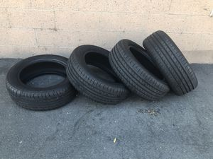 Tires 205 55 16 all same brand 99% threads barely new . Paid $399 for all 4 no longer need it for my trailer for Sale in Garden Grove, CA