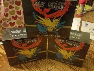 Pokemon Hidden Fates Elite Trainer Boxes 3 Brand New Factory Sealed Boxes 🔥🔥🔥 for Sale in Carrollton,  TX