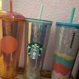 lot of 3 starbucks tumblers for Sale in Rancho Cucamonga, CA