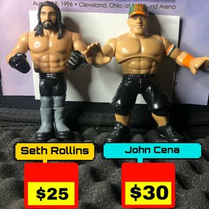 9 Mattel Retro Figures Seth Rollins John Cena for Sale in The Bronx, NY
