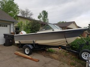 16' fishing boat w/custom adjustable trailer AS-IS for Sale in Westminster, CO