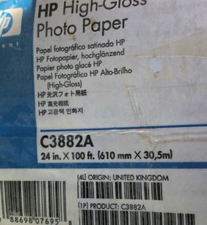 Hp large format high gloss photo paper for Sale in Fargo, ND