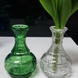 Rare 70's Hoosier Clear Glass Thumbprint Bud Vase for Sale in Duluth, GA