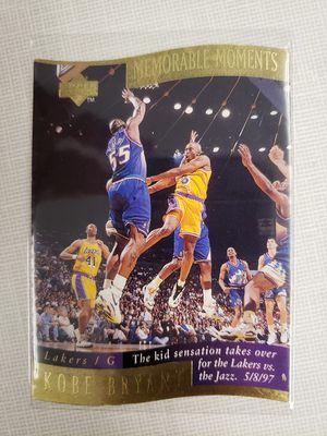 Kobe Bryant MEMORABLE MOMENTS GOLD card for Sale in Gilbert, AZ