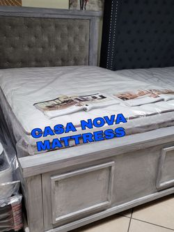 BRAND NEW BED FRAME QUEEN ✨100%WOOD ✨✨MATTRESS AND BOX SPRING 📢😴😴SAME DAY DELIVER OR PICK UP 📢📢 for Sale in Carson,  CA