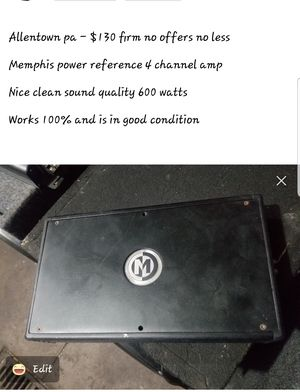 Memphis 4 channel amp for Sale in Allentown, PA