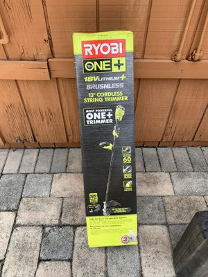 Ryobi 18 volts trimmer brand new for Sale in Temple Terrace, FL