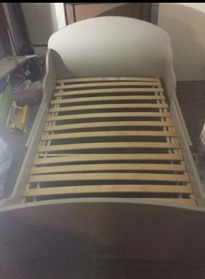 Ikea Gray twin bed frame with mattress for Sale in Rosemead, CA