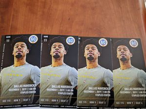 4 tickets Lakers vs. Mavericks Section 115, Row 9 for Sale in Los Angeles, CA