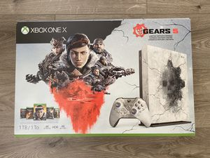 Xbox one x gears5 limited edition new for Sale in Rancho Cucamonga, CA