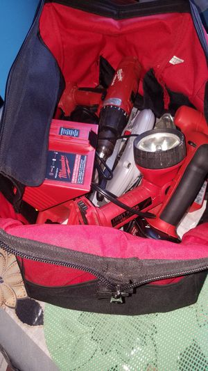 Milwaukee kit tools circular saw 18v hamer drill power plus 18v saw all 18v batery and 1charge. Work light for Sale in The Bronx, NY