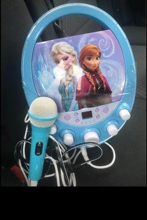 Disney FROZEN Elsa & Anna CD Player Karaoke Machine for Sale in Bowie, MD