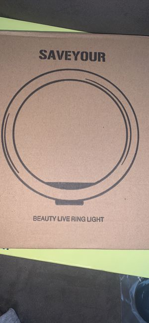 10.2 Inch Ring Light with Stand, SAVEYOUR Selfie LED Ring Light with Tripod & Cell Phone Holde for Sale in Greenville, SC