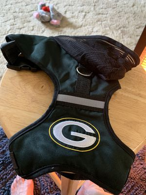 Medium Dogs green Bay dog harness with hood for Sale in Willow Springs, IL
