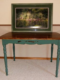 Table ~ Craft ~ Desk ~Home Office $35 / Wall Art Large $10 for Sale in Everett,  WA