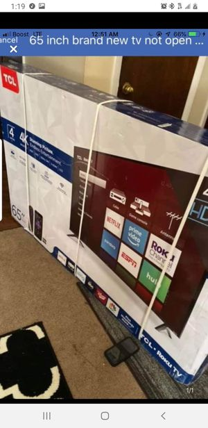 BRAND NEW 65in TCL smart tv for Sale in Charlotte, NC