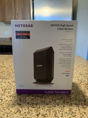 Netgear CM700 High Speed Cable Modem 1.4 gbps 32 x 8 cox DOCSIS 3.0 for Sale in Phoenix, AZ