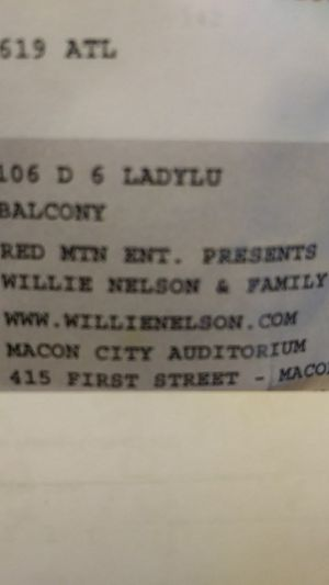Willie Nelson tickets for Sale in Cochran, GA
