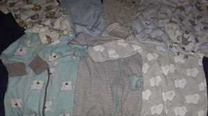 8 piece newborn baby boy clothes with diapers for Sale in Fresno, CA