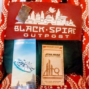 Star Wars Galaxy's Edge Black Spire Tote Opening Day Map for Sale in Tampa, FL