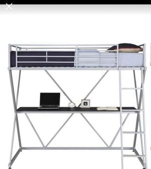 3 beds for sale 1 white Full bunk bed with desk area. 2 twin over desk bunk bed for Sale in Riverdale, GA