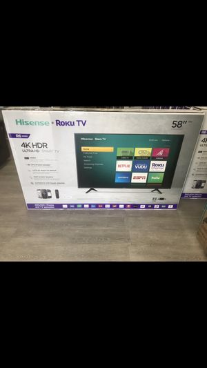 58 INCH HISENSE Roku 4K SMART TV for Sale in Chino Hills, CA