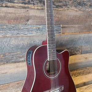 Guitarra Requinto 12 String Acoustic Electric Requinto Guitar Thin Body Combo with Gig Bag & Accessories Guitarra Electrica Acústica for Sale in Tolleson, AZ