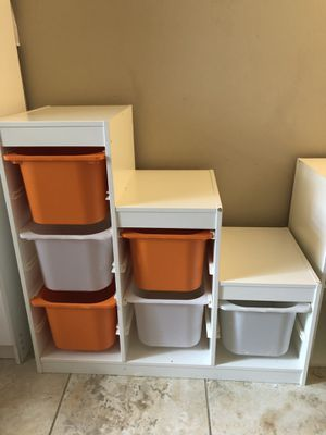 IKEA toy shelve storage unit white for Sale in Orlando, FL