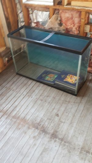 50 gallon fish tank & king size bed frame with head board for Sale in Ravenna, OH