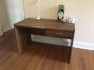 Wooden Desk with drawer for Sale in Cleveland, OH