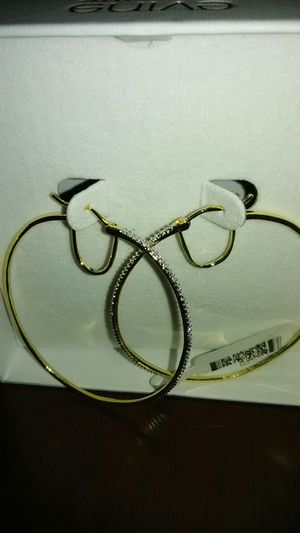 Gold Over Brass Large Hoop Earrings for Sale in Brooklyn, NY