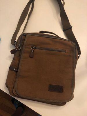 Men's Camel canvas Messenger bag for Sale in San Antonio, TX
