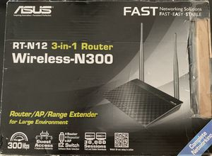 Asus Wireless N300 Router RT-N12 for Sale in Columbia, SC
