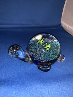 Turtle hand blown glass for Sale in Helotes, TX