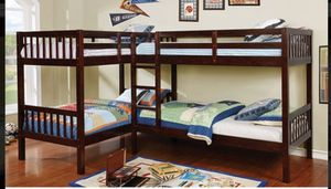 CMBK 904 QUADRUPLE TWIN BUNK BED MATTRESS NOT INCLUDED ☎️ 1714586*2564 for Sale in Buena Park, CA