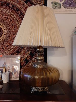 Antique brass and glass lamp! for Sale in Vancouver, WA