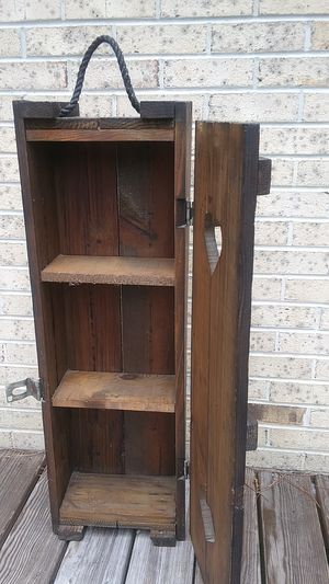 Wooden 3 shelf cabinet for Sale in Littleton, NC