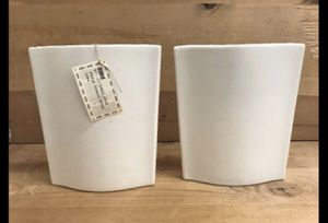 White Big Vases, Ceramic set of 2 flower Unique Vases for Sale in San Diego, CA