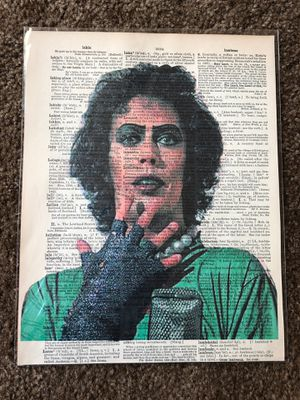 8.5 x 11 dr frank n furter dictionary print for Sale in San Diego, CA