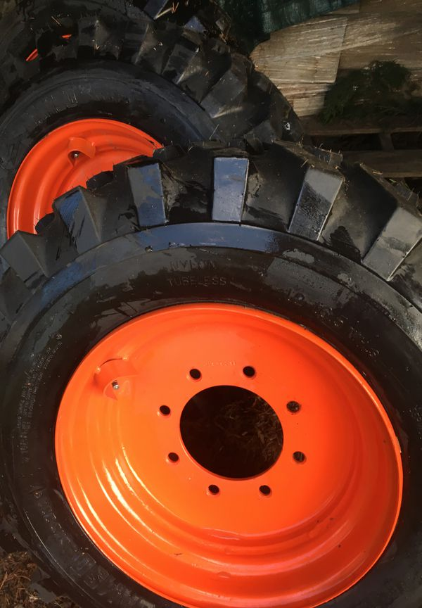 Skid loader tires and rims