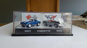 Matte Hotwheels 45 anniversary Corvette two car set. for Sale in Brooklyn Center, MN