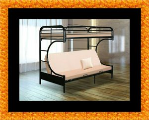 Twin futon bunk bed frame for Sale in Greater Landover, MD
