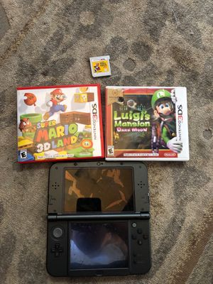 Nintendo 3ds + Luigi's mansion dark moon, super Mario 3dland ,super Mario maker for Sale in Cypress, CA