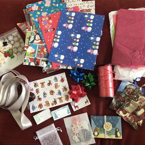 Holiday Christmas Wrapping Paper, Bows, Ribbon, Gift Tags, and Mini Gift Bags for Sale in Coto de Caza, CA