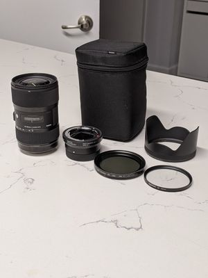 Sigma 18-35mm f/1.8 Canon EF w/ mc-11 adapter, UV & ND filter, lens case for Sale in Huntington Beach, CA